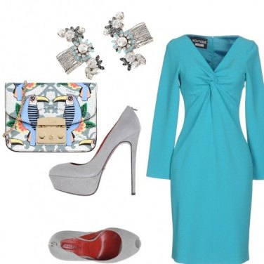 Outfit Cerimonia in turchese
