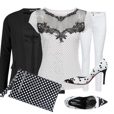 Outfit Pois in bianco e nero