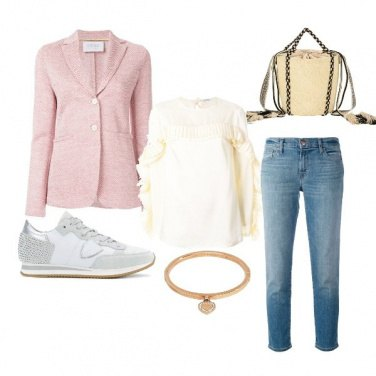 Outfit Domenica in rosa