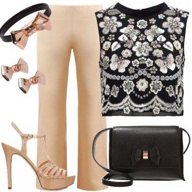 Outfit Cerimonia in top e pantalone