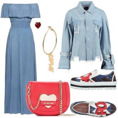 Outfit Colori pastello e stampe pop