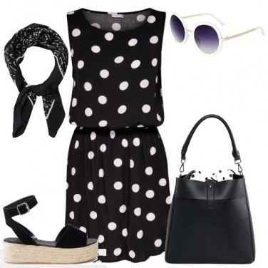 Outfit Un estate a pois