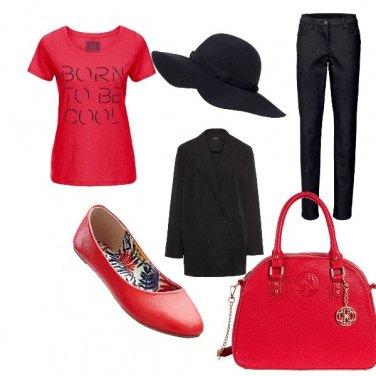 Outfit Rosso e nero