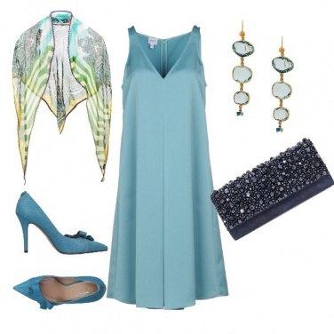 Outfit Cerimonia nei toni del pavone