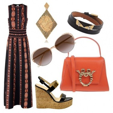 Outfit Etnochic per donna Autunno Scuro