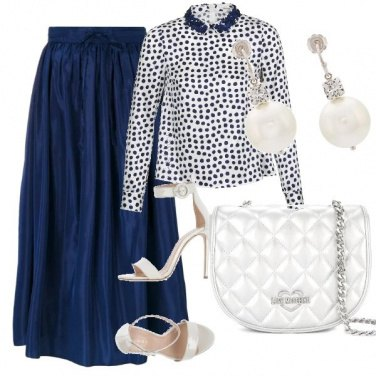 Outfit Camicia a pois