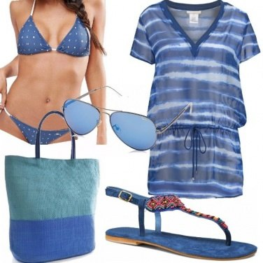 Outfit Al mare in blue