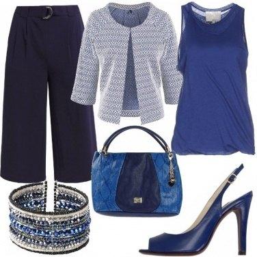 Outfit Snorkel blue serata lungomare