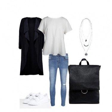 Outfit Primavera in bianco e nero