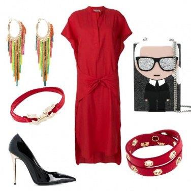 Outfit Eccentrica in abito lungo