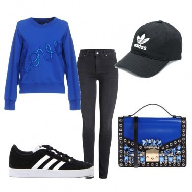 Outfit Il blu elettrico