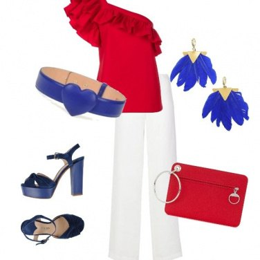 Outfit Elegante tricolore