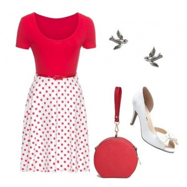 Outfit Red Pois