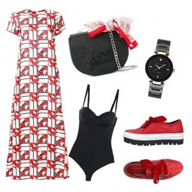 Outfit Rosso di giorno