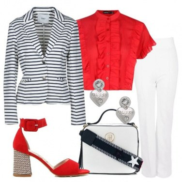 Outfit Giacca a righe