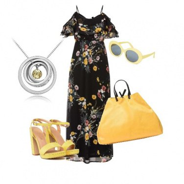 Outfit In lungo e in...giallo.