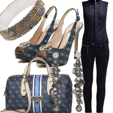 Outfit Total Jeans Look