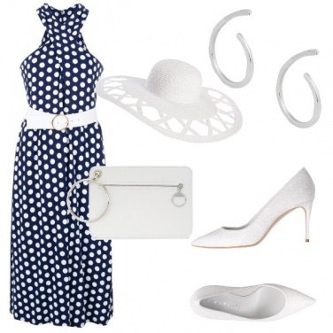 Outfit Cocktail a pois