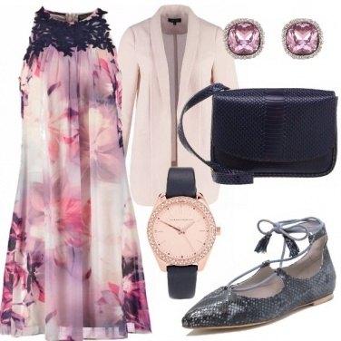 Outfit Fiori lilla e blu