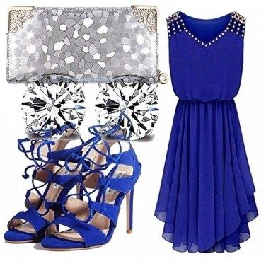 Outfit Blu e argento cerimonia!