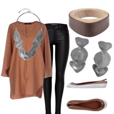 Outfit Legno e metallo