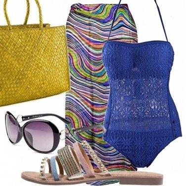 Outfit In spiaggia con l\'intero snorkel blue!