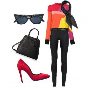 Outfit Nero e colori sgargianti