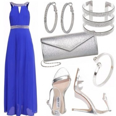 Outfit Blue shiny night