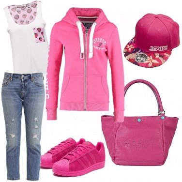 Outfit I love pink