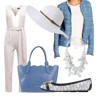 Outfit Casual ed elegante a tacchi bassi