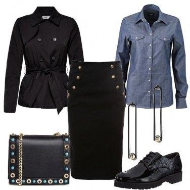 Outfit Stringate con il tubino