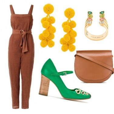 Outfit La tuta marrone