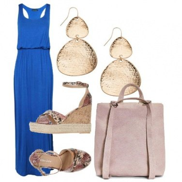 Outfit Gold&blue