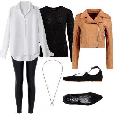 Outfit I leggins di pelle