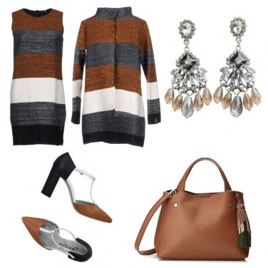 Outfit Calde righe ed orecchini importanti