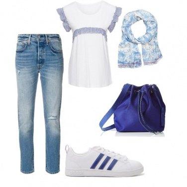 Outfit Il blu tutti i giorni