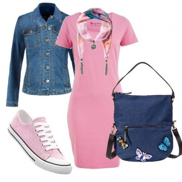 Outfit Abitino rosa