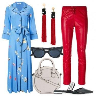 Outfit Il long dress col pantalone