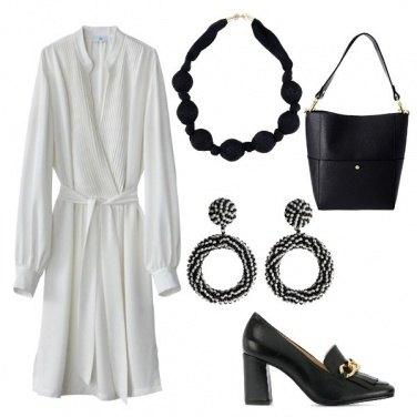 Outfit Black & White in ufficio