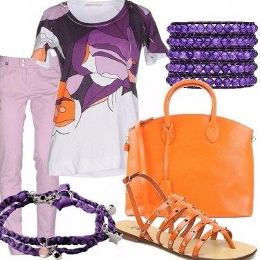 Outfit Arancio e viola!