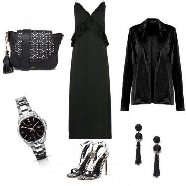 Outfit Nera di sera