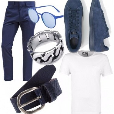Outfit Casual in blue