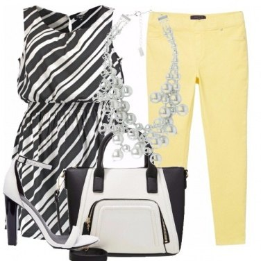 Outfit There\'s yellow in my b&w outfit
