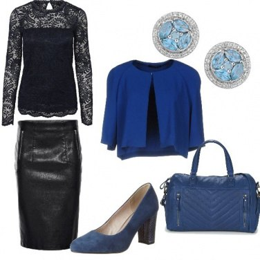 Outfit Nero e blu
