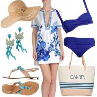 Outfit Mare blu a cannes