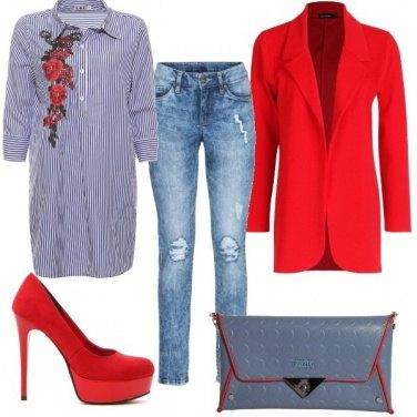 Outfit Maxi camicia e jeans