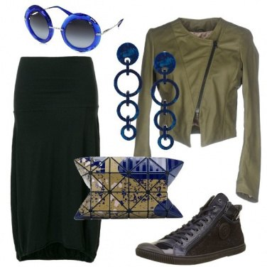 Outfit Clutch bicolore