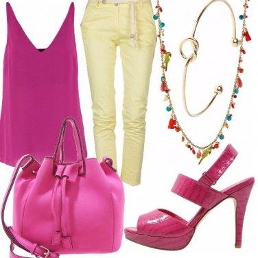 Outfit Fucsia&giallo