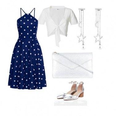 Outfit Blu scintillante