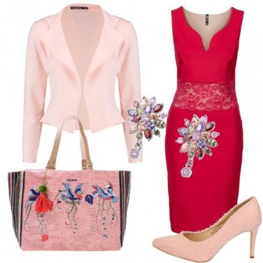 Outfit Rosa rosso